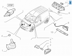 Feu arrière, troisième feu stop pour Fiat et Fiat Professional