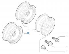 Jante acier de 7J x 16'' pour Fiat Professional Scudo