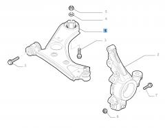 Bras oscillant droit de suspension avant pour Fiat et Fiat Professional