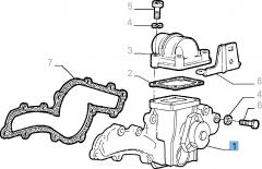 Pompe à eau avec joint