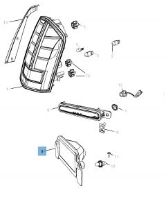 Feu de plaque pour Lancia Thema