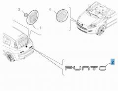 Sigle modèle Punto arrière pour Fiat