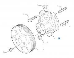 Pompe à eau pour Fiat Sedici