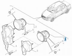 Antibrouillard pour Fiat et Fiat Professional