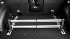 Barre télescopique pour organisateur de coffre à bagages