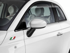 Coques de rétroviseurs blanc brillant pour Fiat 500
