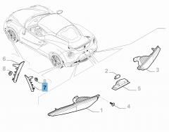 Clignotant arrière latéral gauche pour Alfa Romeo 4C