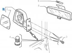 Rétroviseur droit manuel pour Fiat Professional Scudo