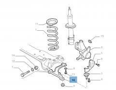 Bras oscillant gauche pour Fiat Professional Ducato