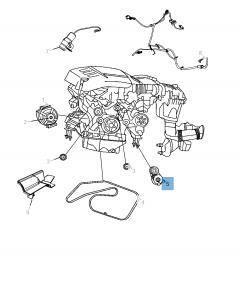 Tendeur de courroie réglable pour Jeep