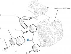 Tendeur de courroie fixe pour Fiat Professional Scudo