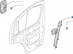 Lève-vitre électrique avant gauche pour Fiat Professional Ducato
