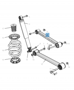 Bras oscillant de suspension supérieure pour Jeep Cherokee