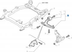 Bras oscillant droit pour Fiat et Fiat Professional