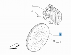 Disque de frein arrière pour Alfa Romeo 4C