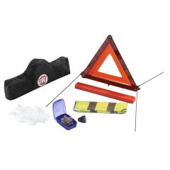 Kit de secours constitué d'un triangle et d'un gilet réfléchissant
