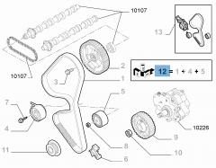 Kit de distribution (courroie, tendeur de courroie fixe et réglable) - 3 pc pour Fiat Professional Scudo