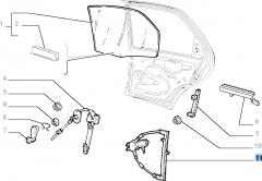 Lève-vitre électrique arrière droit pour Fiat Palio
