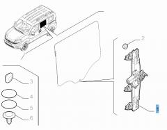 Lève-vitre électrique arrière gauche pour Fiat et Fiat Professional