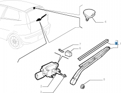 Balai d'essuie-glace arrière pour Fiat et Fiat Professional