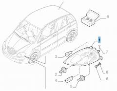 Projecteur avant gauche pour Lancia Musa