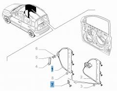 Lève-vitre électrique avant droit pour Fiat et Fiat Professional