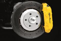 Étriers de freins jaunes à l'avant et à l'arrière pour Alfa Romeo 4C