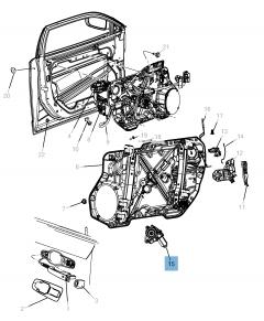 Lève-vitre avant pour Lancia Thema