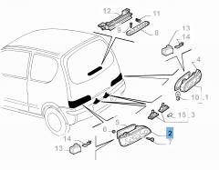 Feu arrière gauche pour Fiat et Fiat Professional