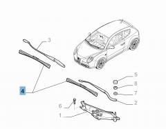 Kit 2 balais d'essuie-glace avant pour Alfa Romeo Mito