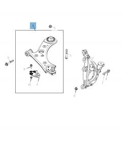 Bras oscillant de suspension inférieure pour Jeep Compass