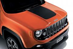 Autocollant pour capot couleur noir opaque pour Jeep Renegade