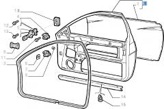 Cadre de la porte latérale droite pour Fiat Coupé (1994-1996)