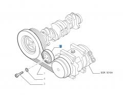 Tendeur de courroie fixe pour Fiat Professional Ducato