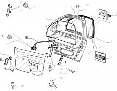 Lève-vitre manuel avant droit pour Fiat et Fiat Professional