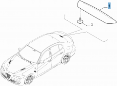 Feu arrière, troisième feu stop pour Alfa Romeo Giulia