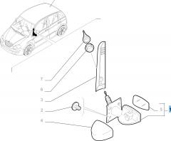 Rétroviseur extérieur droit, manuel