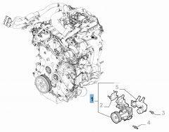 Pompe à eau avec joint et tuyau pour Alfa Romeo