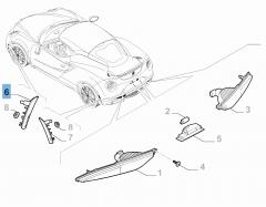 Clignotant avant latéral droit pour Alfa Romeo 4C