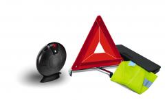 Kit de secours constitué d'un triangle et d'un gilet réfléchissant pour Fiat Professional Talento