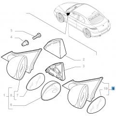 Rétroviseur droit pour Alfa Romeo GT