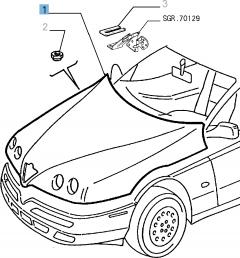 Capot pour Alfa Romeo GTV et Spider