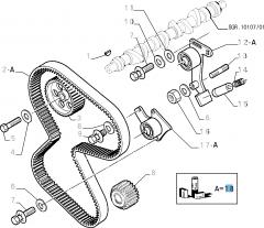Kit de distribution (courroie, tendeur de courroie fixe et réglable) - 3 pc pour Fiat et Fiat Professional