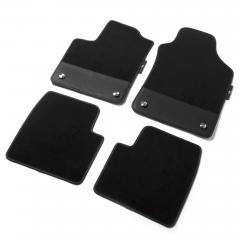 Kit de tapis de sol 595 en moquette avec insert en cuir noir