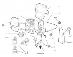 Rétroviseur droit électrique pour Fiat Professional Scudo