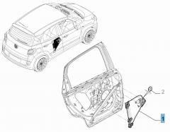 Lève-vitre électrique arrière gauche pour Fiat 500L
