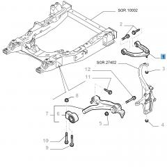 Bras oscillant gauche de suspension avant supérieure pour Alfa Romeo 159