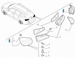 Feu arrière gauche fixe pour Fiat et Fiat Professional