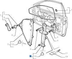 Lève-vitre électrique gauche pour Fiat et Fiat Professional