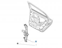 Lève-vitre électrique arrière droit
